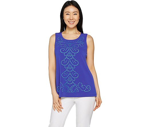 """As Is"" Susan Graver Liquid Knit Sleeveless Top"