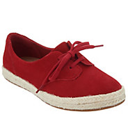 Clarks Suede Lace-up Espadrilles - Azella Jazlynn - A304285