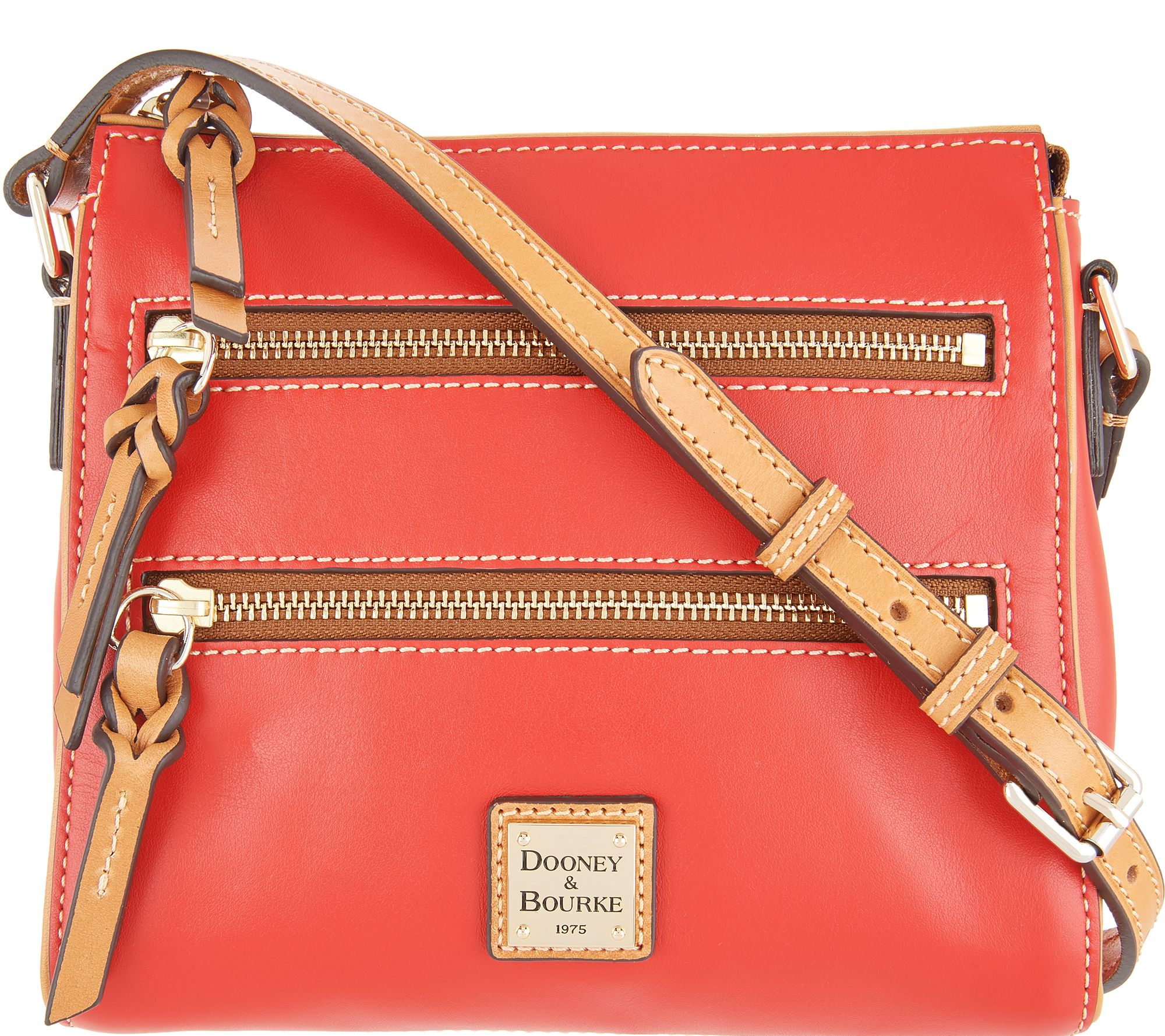 dd682e6966 Dooney   Bourke Smooth Leather Triple Zip Crossbody - Peyton - Page 1 —  QVC.com