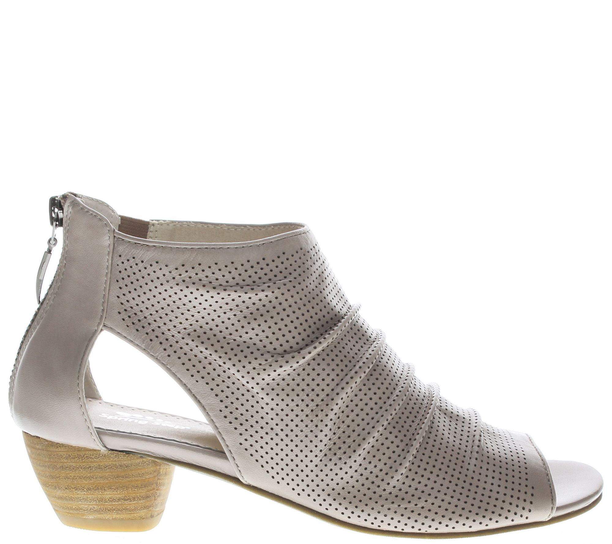 Spring Step Perforated Leather Booties - Avidra outlet fast delivery footlocker pictures sale online efBnKi19