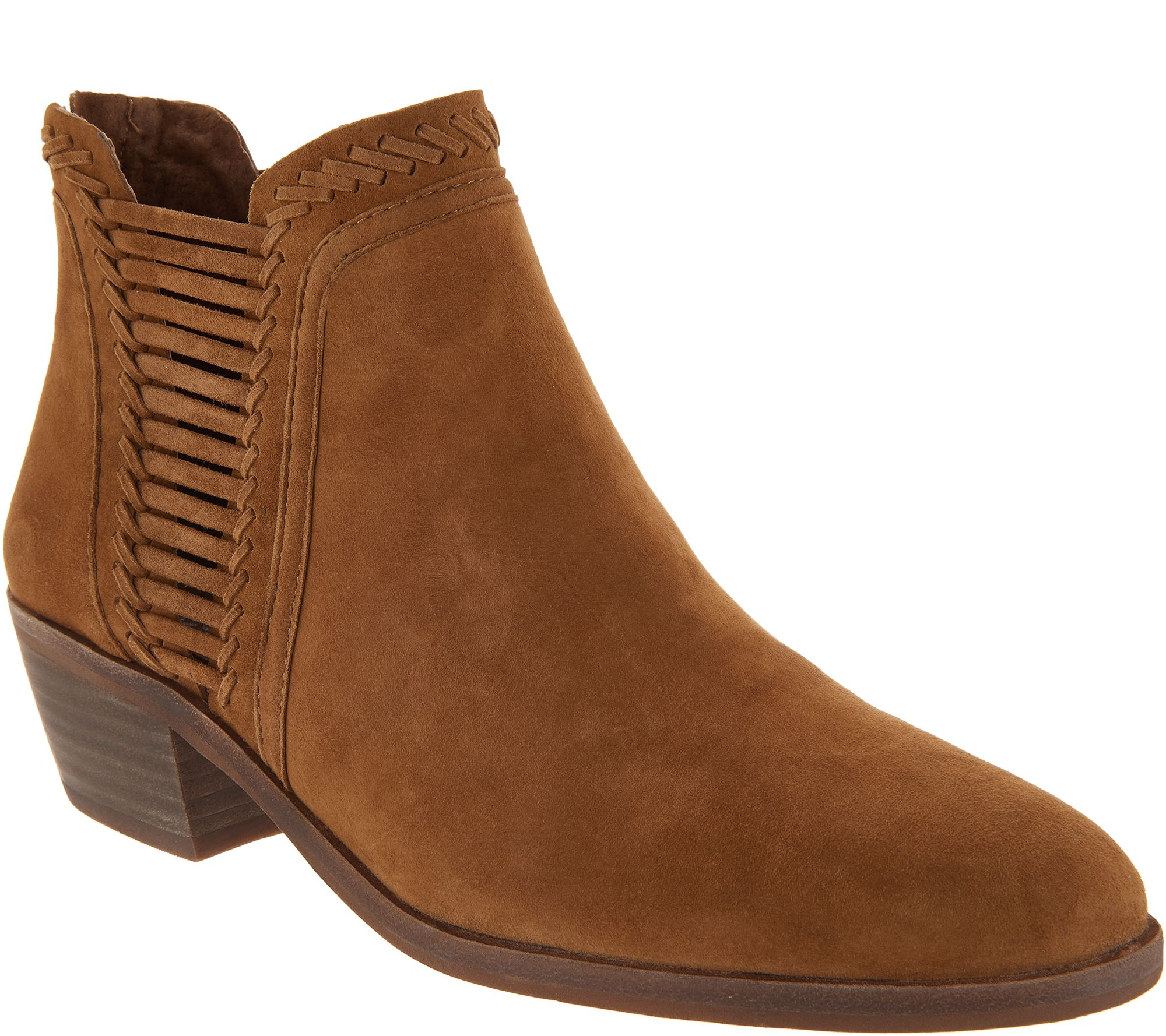 037c92d0058 Vince Camuto Leather or Suede Booties - Pippsy — QVC.com
