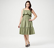 Isaac Mizrahi Live! Smocked Tiered Dress with Eyelet Detail - A352285