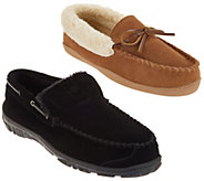 Clarks Womens or Mens Suede Moccasin Slippers - A354185