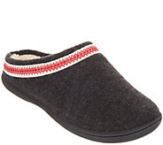 As Is Clarks Felt Womens Slipper with Trim Detail - A365285