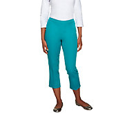 Isaac Mizrahi Live! Petite 24/7 Stretch Cropped Pants - A253286