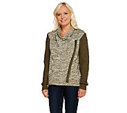Lisa Rinna Collection Zip Front Sweater Knit Cardigan - A267486