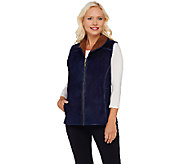 Denim & Co. Suede and Sherpa Vest - A270186