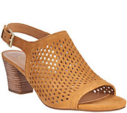 Franco Sarto Suede Perforated Sandals - Monaco 2 - A274786