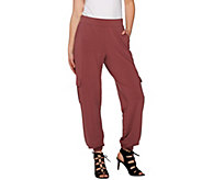 Lisa Rinna Collection Petite Banded Bottom Pants - A275986