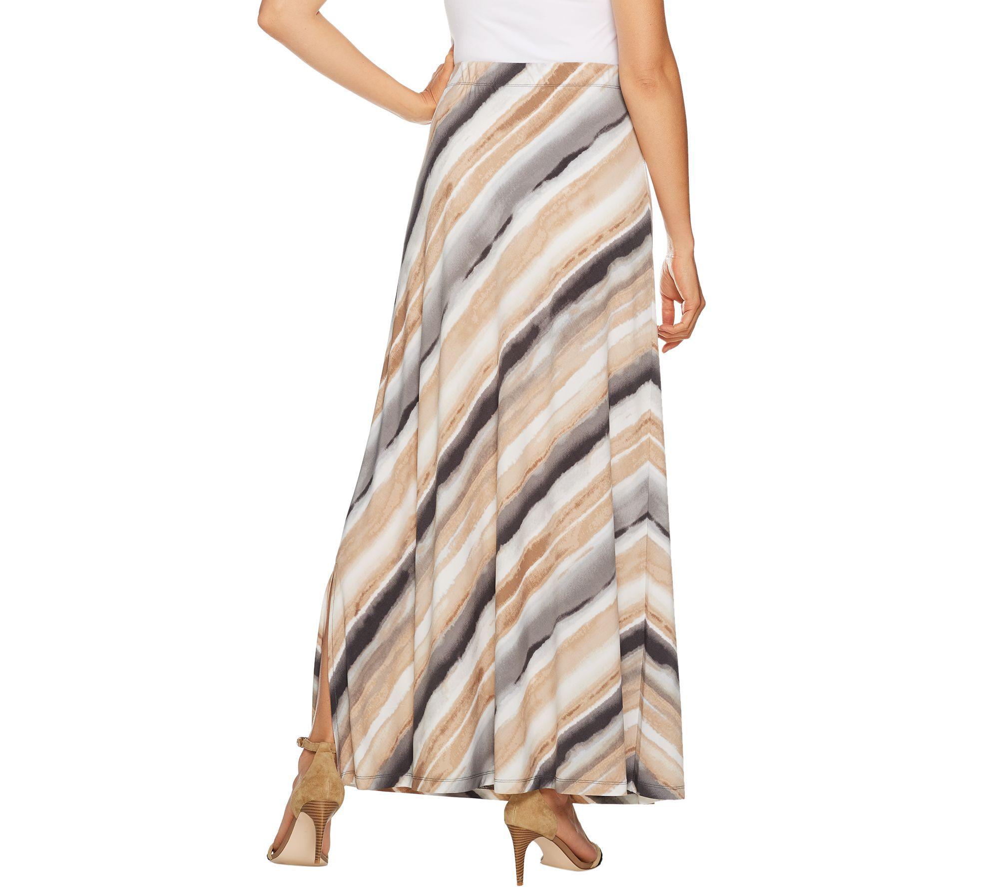 7a17be8afd Susan Graver Printed Liquid Knit Maxi Skirt - Petite - Page 1 — QVC.com