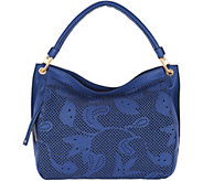Plinio Visona Italian Leather Laser Cut Hobo - A293786