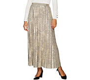 H by Halston Petite Foil Printed Pleated Maxi Skirt - A295886