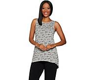 AnyBody Loungewear Cozy Knit Printed Hi-Lo Tank - A296886
