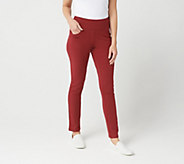 Denim & Co. Active Regular Slim Leg Knit Pants - A299386