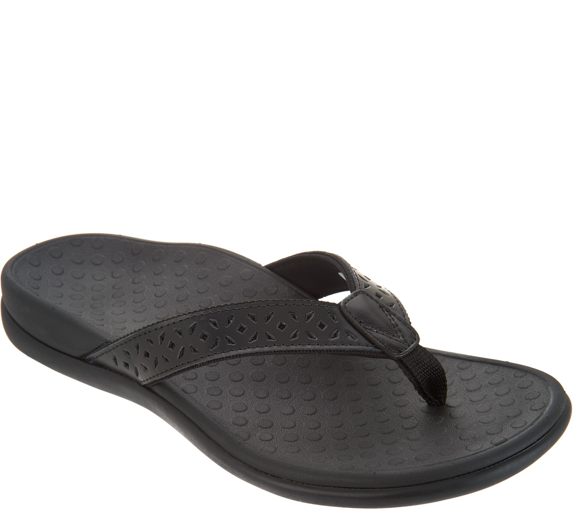 a029d1228 Vionic Leather Thong Sandals - Tide Anniversary - Page 1 — QVC.com