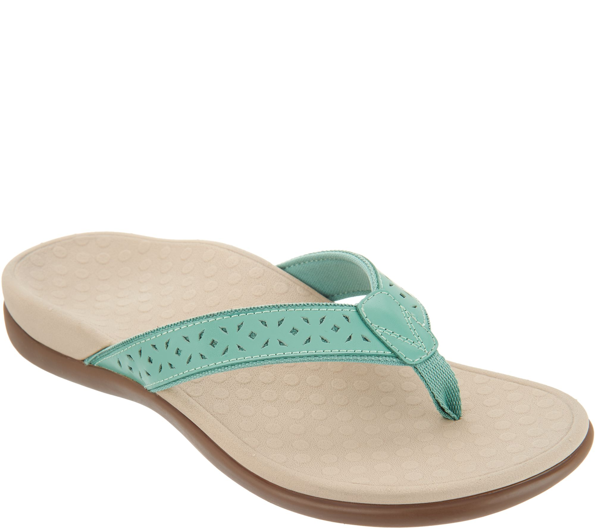 47c028ded28 Vionic Leather Thong Sandals - Tide Anniversary - Page 1 — QVC.com