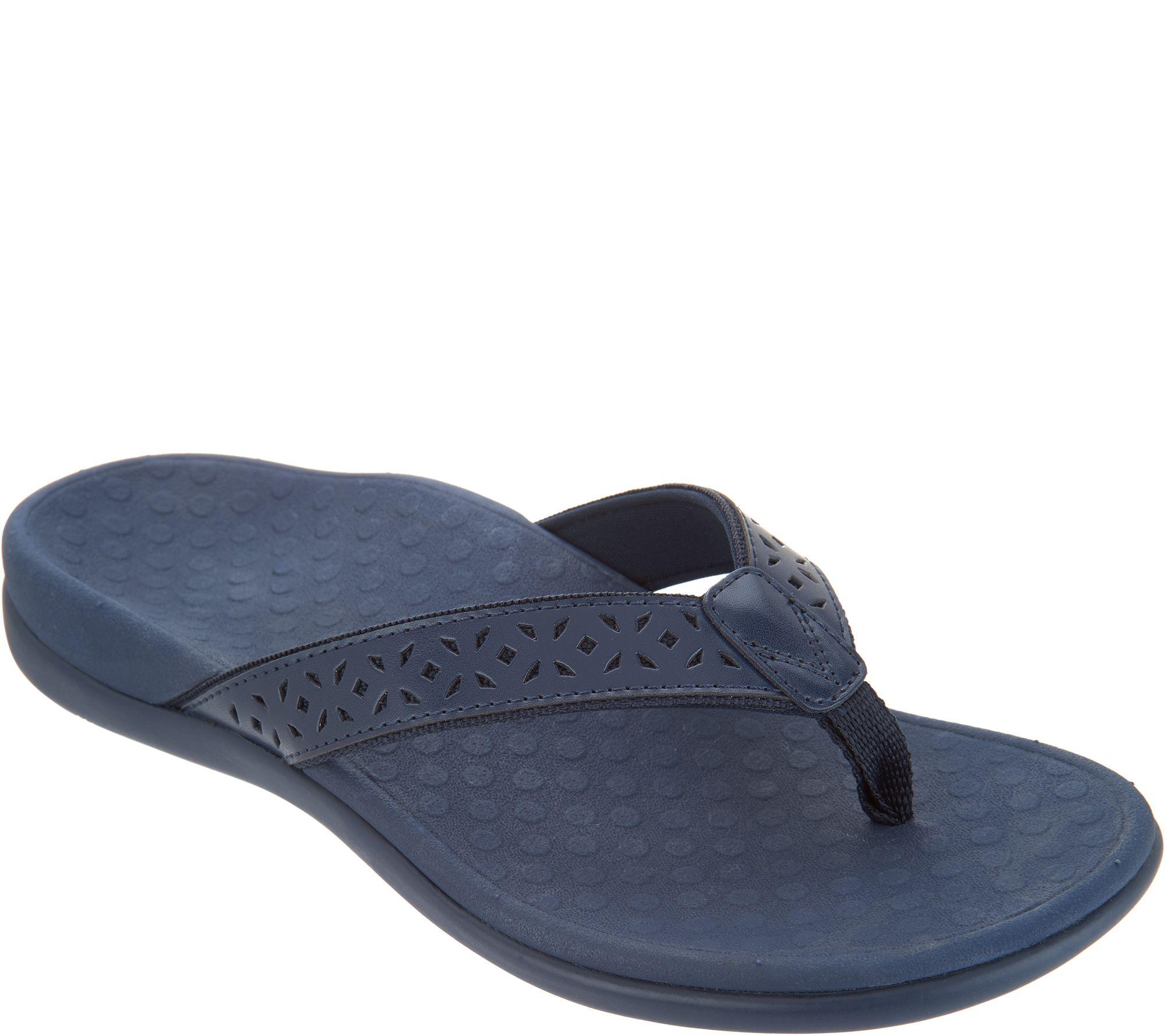 fdad5b2e4d42 Vionic Leather Thong Sandals - Tide Anniversary - Page 1 — QVC.com