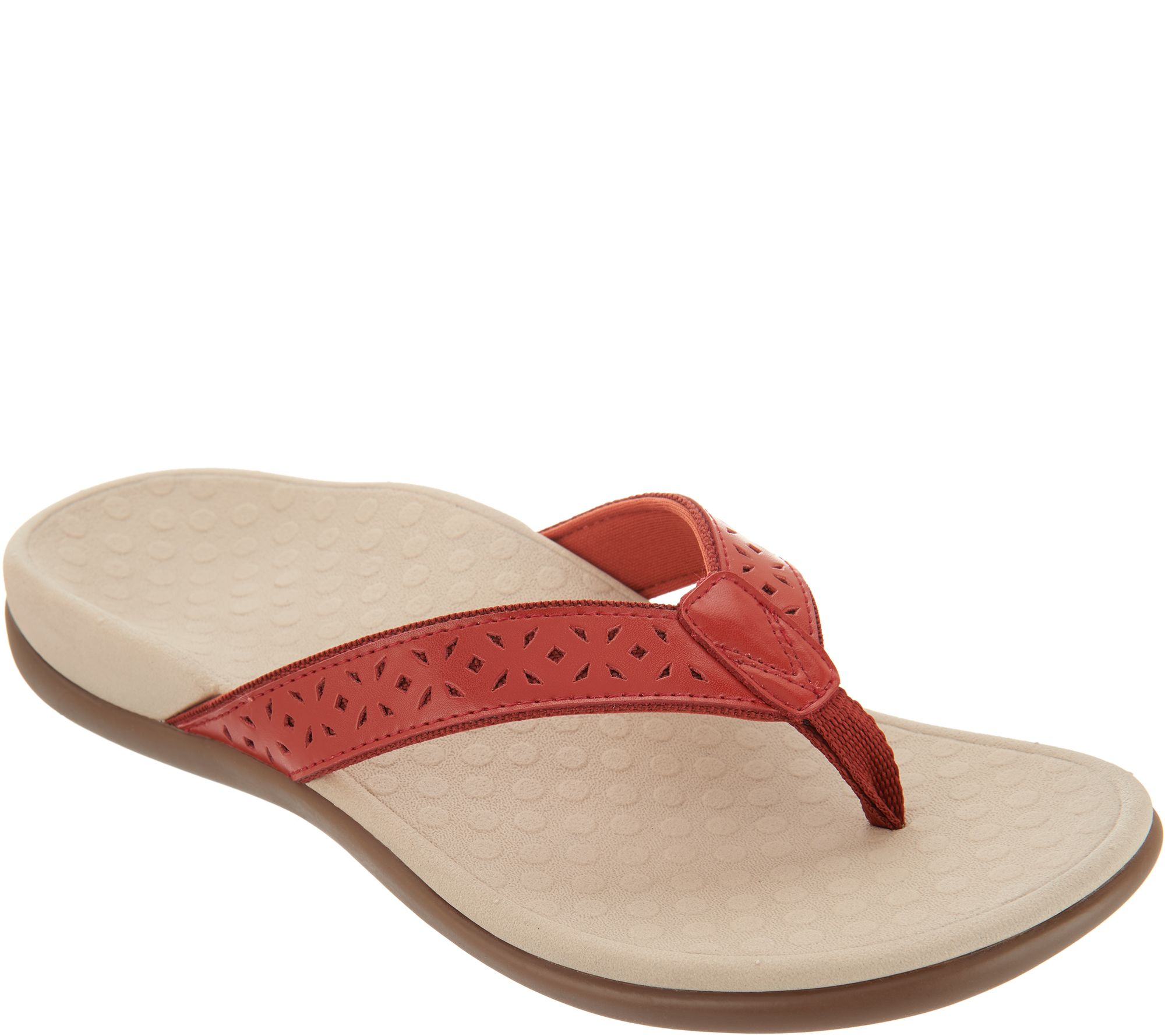 eaa6634b1 Vionic Leather Thong Sandals - Tide Anniversary - Page 1 — QVC.com