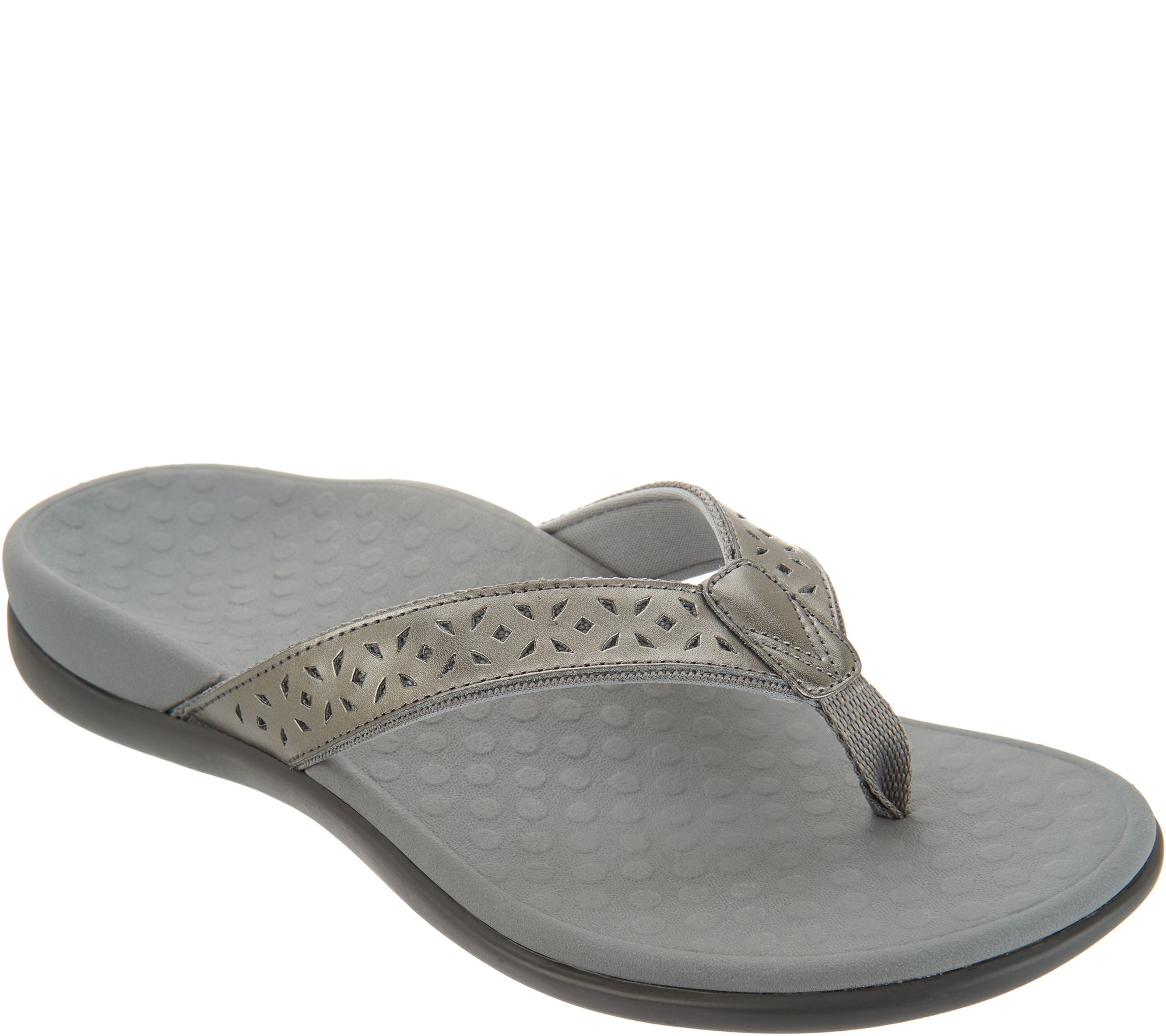bc7067696276c Vionic Leather Thong Sandals - Tide Anniversary - Page 1 — QVC.com