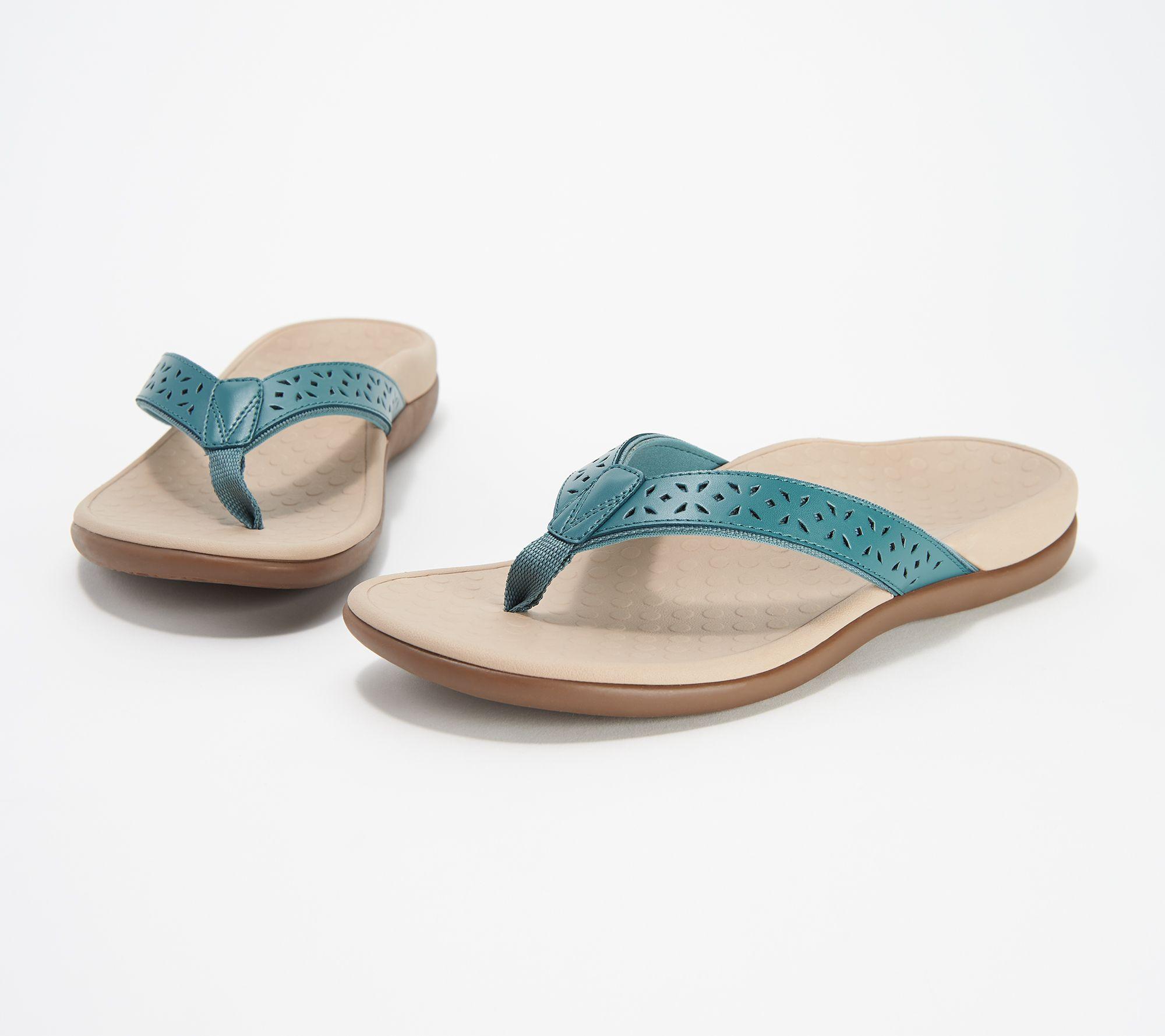 3d615832243e4 Vionic Leather Thong Sandals - Tide Anniversary — QVC.com