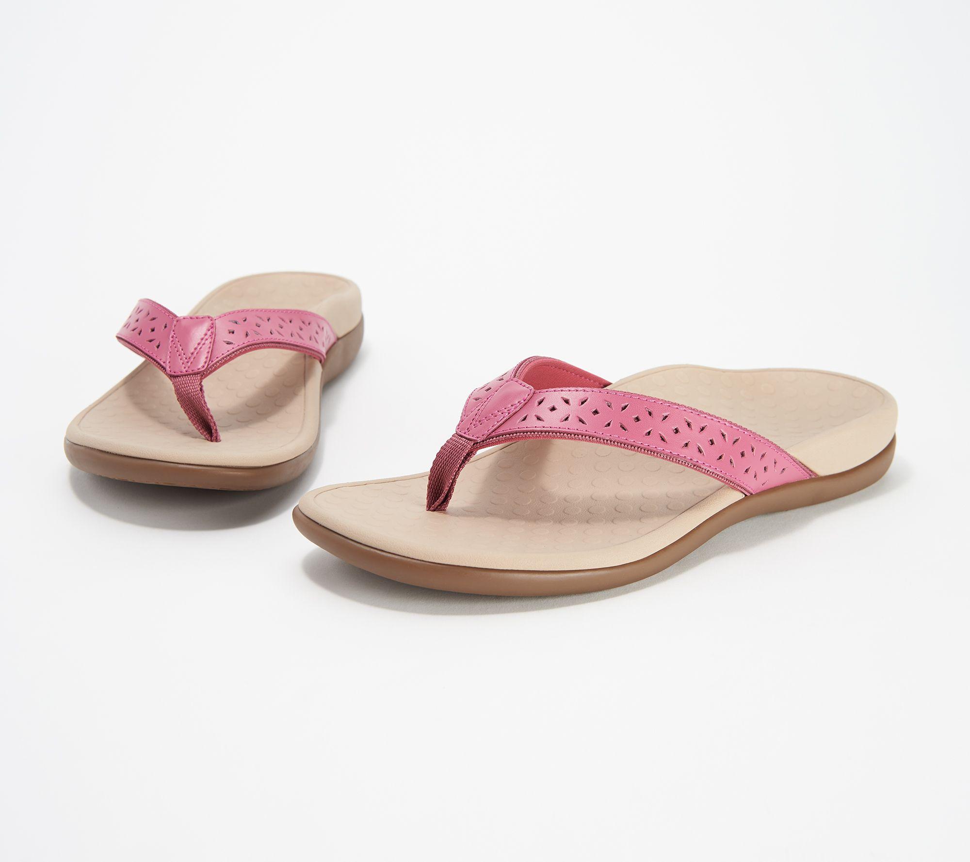 cc0c0fdb57e Vionic Leather Thong Sandals - Tide Anniversary - Page 1 — QVC.com