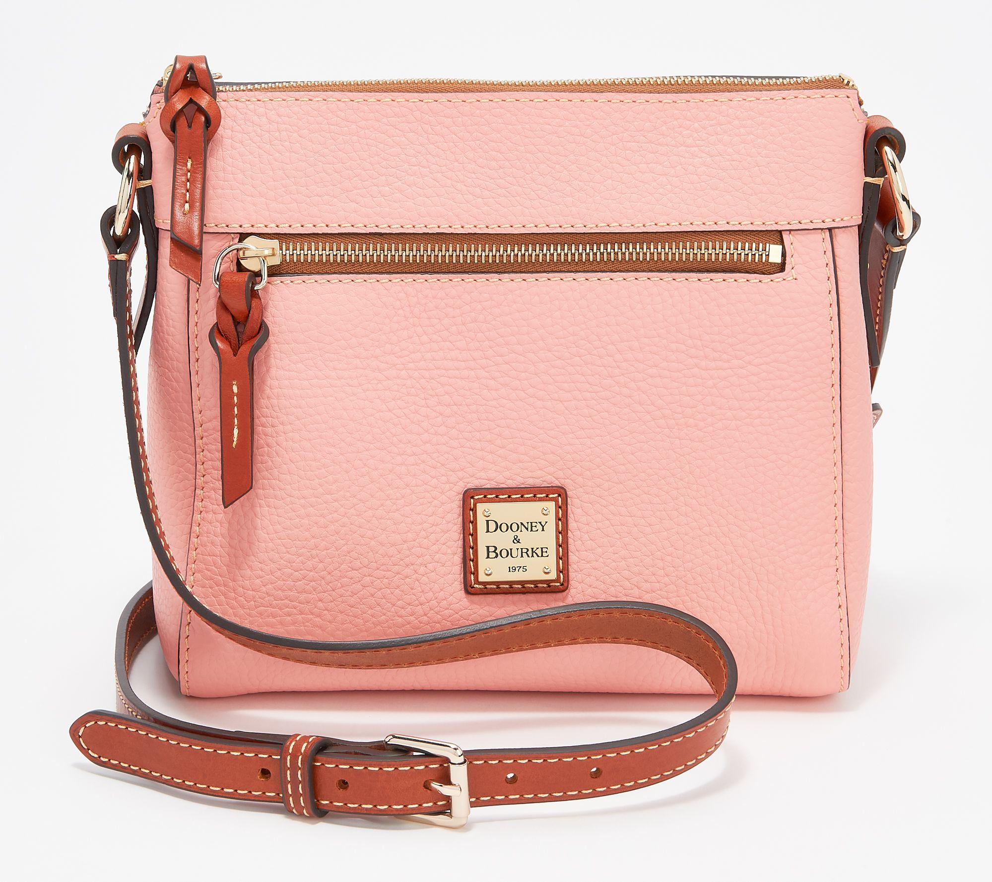 27259e82a9 Dooney   Bourke Pebble Leather Allison Crossbody Handbag - Page 1 — QVC.com
