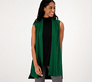 Every Day by Susan Graver Liquid Knit Open Front Vest - A310086