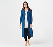 Cuddl Duds Softwear Stretch Maxi Button Front Cardigan - A310286
