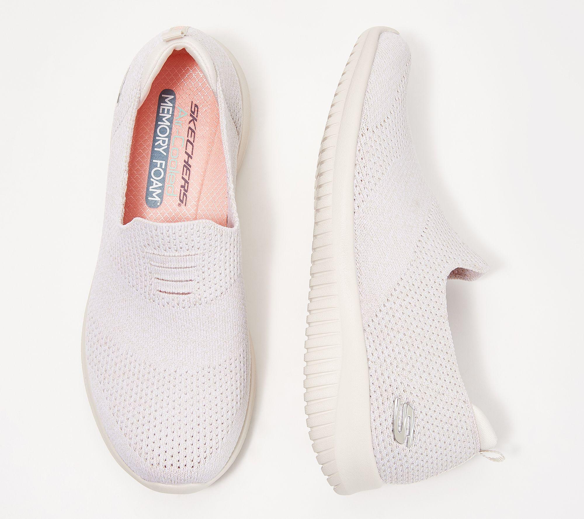11a94b7651 Skechers Ultra Flex Flat Knit Slip-On Shoes - Harmonious — QVC.com