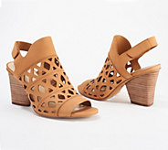 Vince Camuto Cutout Nubuck Heeled Sandals- Deverly - A351686