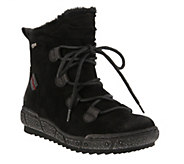 Spring Step Water Resistant Suede Boots - Hunnie - A360786