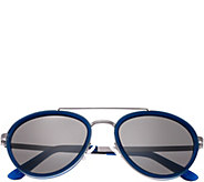 Breed Gemini SilvertoneTitanium Sunglasses w/ Polarized Lenses - A361286