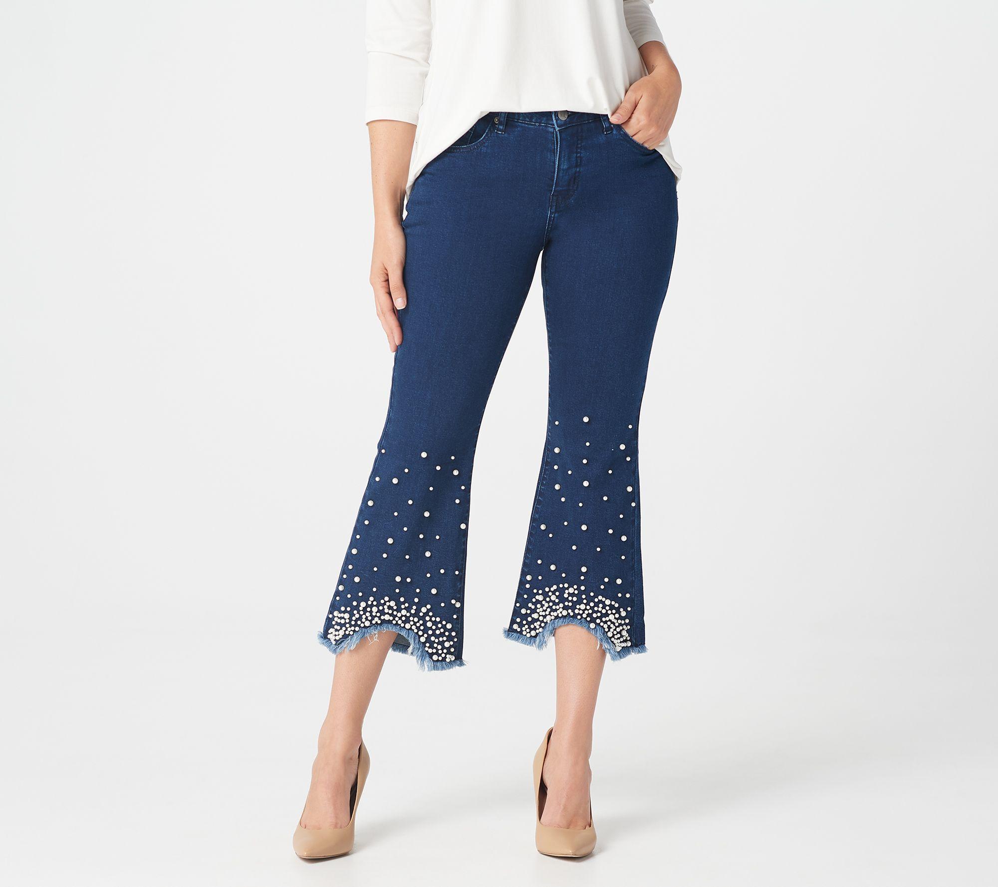 New Women/'s Ladies Skinny Stretch Denim Leg Frayed Hem Tassel Sides Ankle Jeans