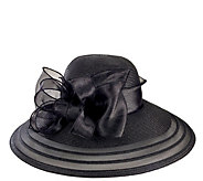 San Diego Hat Co. Lightweight Dressy Black Hatw/ Organza Bow - A412586