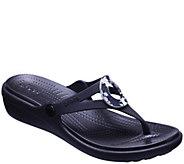 Crocs Womens Sanrah Wedge Flip Clogs - A423486