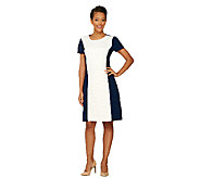 Liz Claiborne New York Textured Ponte Knit Dress - A262187