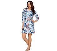 Isaac Mizrahi Live! Confetti Floral Print Sleep Dress - A271587