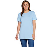 Denim & Co. Essentials Oversized Short Sleeve Scoop Neck Tunic - A278987