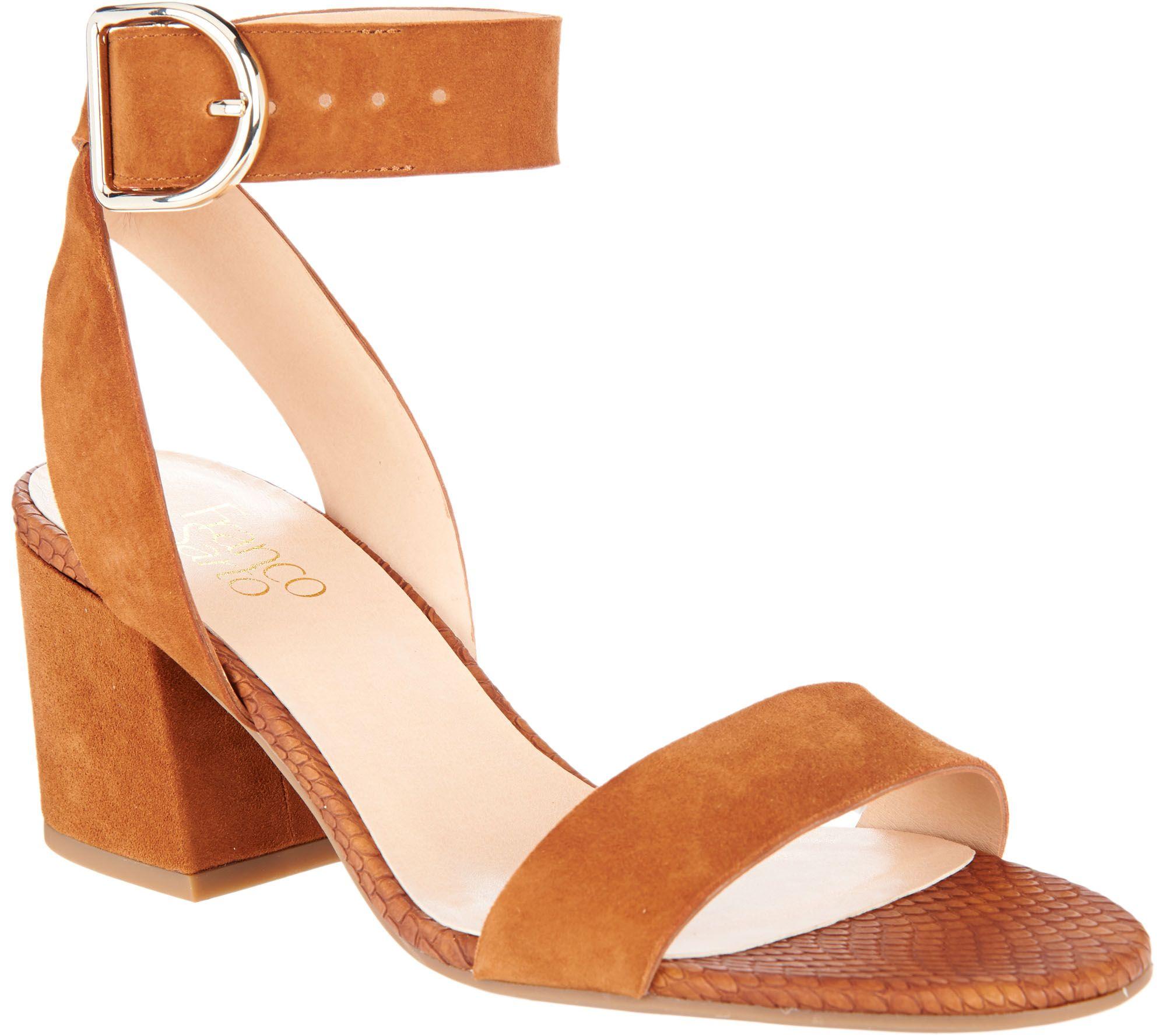 60c09ad3dc59 Franco Sarto Suede Block Heel Sandals - Marcy - Page 1 — QVC.com