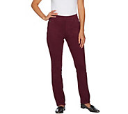 Belle by Kim Gravel Flexibelle Petite Pull-On Jeans with Lace - A293587