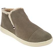ED Ellen DeGeneres Suede & Fleece Ankle Boots - Cambon - A297287