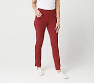 Denim & Co. Active Petite Pull-On Slim Leg Pants - A299387
