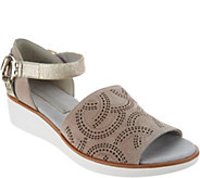 Lori Goldstein Collection Wedge Sandal with Moto Ankle Strap - A302887