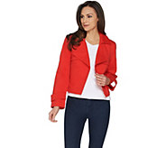 Du Jour Open Front Cropped Jacket with Pockets - A303287