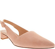 Franco Sarto Suede Pointed Toe Sling-Backs - Vellez - A303387