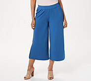 Joan Rivers Regular Length Textured Knit Pull-on Gaucho Pants - A304687