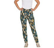LOGO Lounge by Lori Goldstein Printed French Terry Pull-On Pants - A307287
