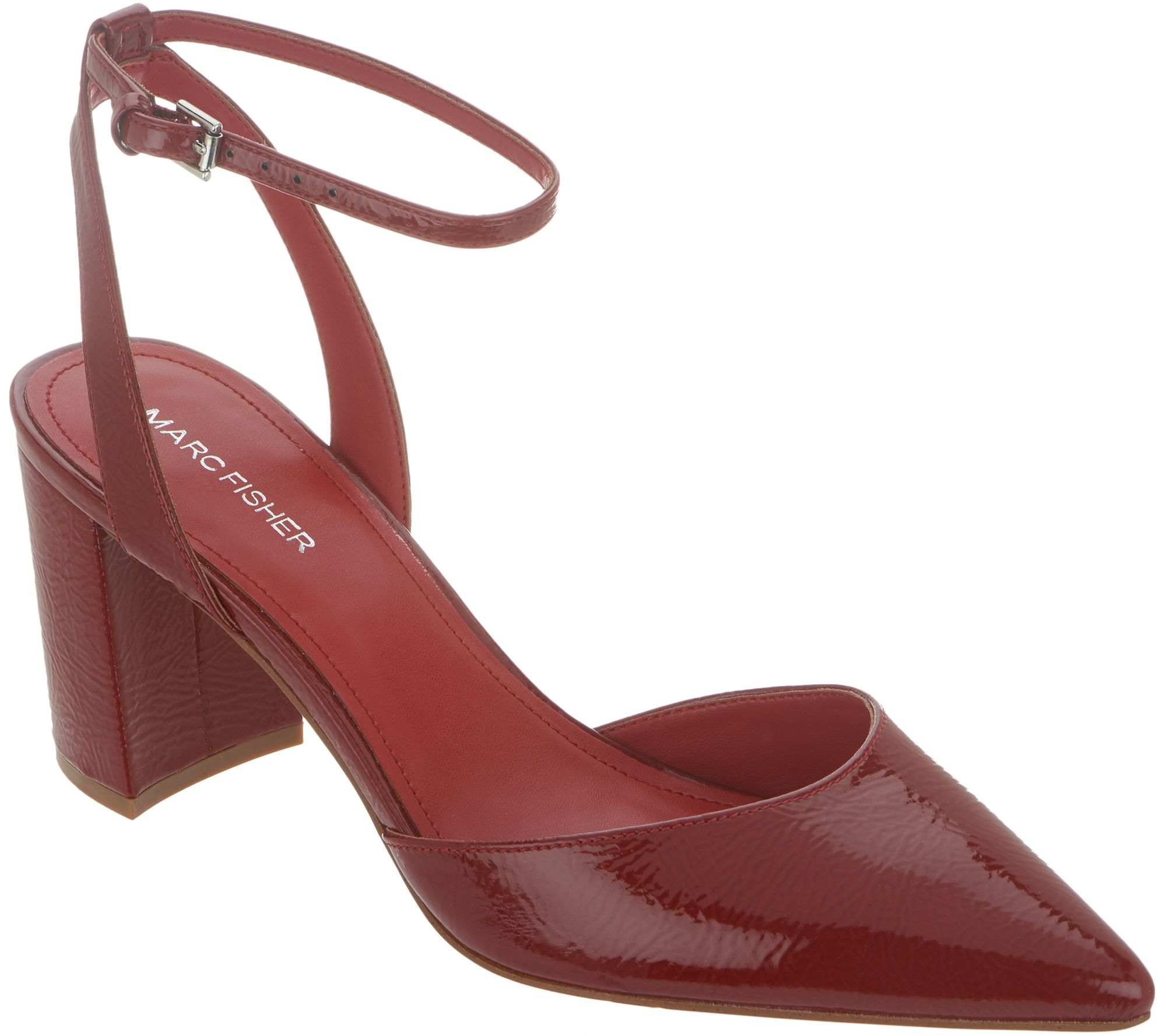 0175f3910aec Marc Fisher Pointed Toe Pumps with Ankle Straps - Cedrina - Page 1 — QVC.com