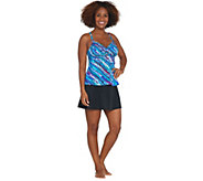 As Is DreamShaper by Miraclesuit Cara Tankini/ Skort Swimsuit - A344787