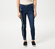 Women with Control My Wonder Denim Petite Jeans w/ Fray Detail - A347387